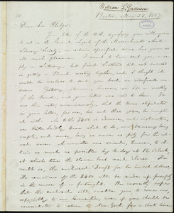 Letter from William Lloyd Garrison, Boston, [Mass.], to Amos Augustus Phelps, May 23, 1837
