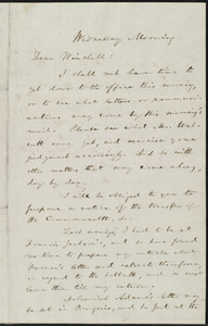 Letter from William Lloyd Garrison to James Manning Winchell Yerrinton, Wednesday Morning, [Oct. 18, 1854]