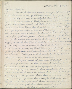 Letter from William Lloyd Garrison, Boston, [Mass.], to John Anderson Collins, Dec. 1, 1840