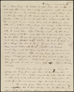 Letter from William Lloyd Garrison, [Boston, Mass.], to George William Benson, Friday noon, Jan 30, [i.e. Jan. 28, 1842]