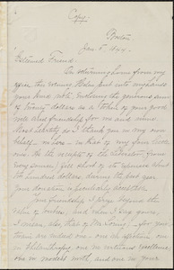 Letter from William Lloyd Garrison, Boston, [Mass.], to Louisa Gilman Loring, Jan. 5, 1844
