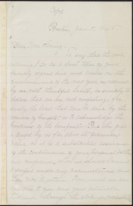 Copy of letter from William Lloyd Garrison, Boston, [Mass.], to Louisa Gilman Loring, Jan. 11, 1845