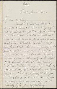 Copy of letter from William Lloyd Garrison, Boston, [Mass.], to Louisa Gilman Loring, Jan. 1, 1846