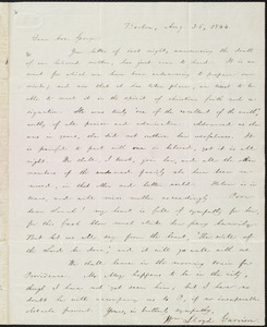 Letter from William Lloyd Garrison, Boston, [Mass.], to George William Benson, Aug. 26, 1844