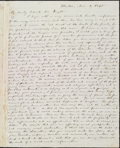 Letter from William Lloyd Garrison, Boston, [Mass.], to Henry Clarke Wright, Nov. 1, 1845