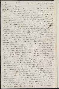 Letter from William Lloyd Garrison, London, [England], to Helen Eliza Garrison, Aug. 11, 1846
