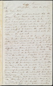 Letter from William Lloyd Garrison, Leavy Greave, Sheffield, [England], to Helen Eliza Garrison, Sept. 10, 1846
