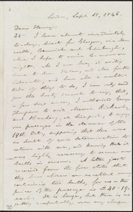 Letter from William Lloyd Garrison, London, [England], to Henry Clarke Wright, Sept. 18, 1846