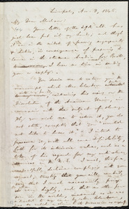 Draft of letter from William Lloyd Garrison, Liverpool, [England], to Catherine Buck Clarkson, Nov. 3, 1846