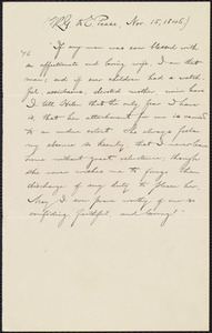 Extract of letter from William Lloyd Garrison, [Halifax, Nova Scotia], to Elizabeth Pease Nichol, Nov. 15, 1846