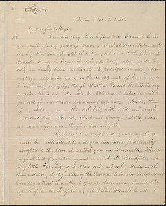Copy of letter from William Lloyd Garrison, Boston, [Mass.], to Samuel May, Dec. 2, 1848
