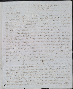 Letter from William Lloyd Garrison, New York, to Helen Eliza Garrison, May 7, 1850, Tuesday Morning
