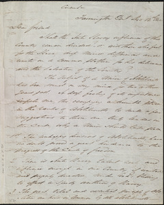 Letter from John Treadwell Norton, Farmington, Con[necticu]t, to William Lloyd Garrison, Dec. 12th, 1842