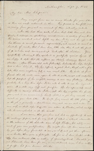 Letter from William Lloyd Garrison, Northampton, [Mass.], to Maria Weston Chapman, Sept. 9, 1843