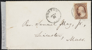 Letter from William Lloyd Garrison to Samuel May, [July 13, 1872]