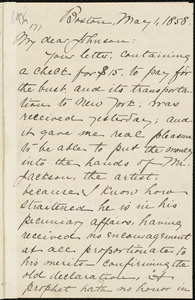 Copy of letter from William Lloyd Garrison, Boston, [Mass.], to Oliver Johnson, May 1, 1858