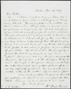 Letter from William Lloyd Garrison, Boston, [Mass.], to John Greenleaf Whittier, Feb. 12, 1859