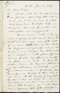 Incomplete letter from William Lloyd Garrison, Boston, [Mass.], to Parker Pillsbury, June 3, 1859