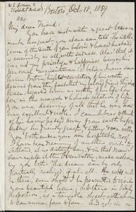 Copy of letter from William Lloyd Garrison, Boston, [Mass.], to Elizabeth Pease Nichol, Oct. 18, 1859