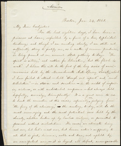 Letter from William Lloyd Garrison, Boston, [Mass.], to Edmund Quincy, Jan. 24, 1861