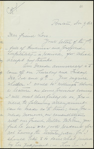 Copy of letter from William Lloyd Garrison, Boston, [Mass.], to Alfred Harry Love, Nov. 9, 1863