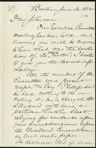 Copy of letter from William Lloyd Garrison, Boston, [Mass.], to Oliver Johnson, June 20, 1864