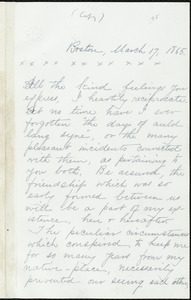 Extract of letter from William Lloyd Garrison, Boston, [Mass.], to Jacob Horton, March 17, 1865