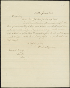 Copy of letter from William Lloyd Garrison, Boston, [Mass.], to Samuel May, June 5, 1865