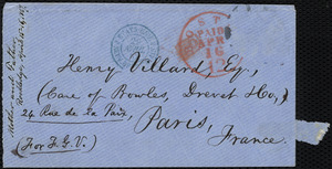 Envelope from William Lloyd Garrison, [Boston, Mass.], to Fanny Garrison Villard, Apr. 16, 1867