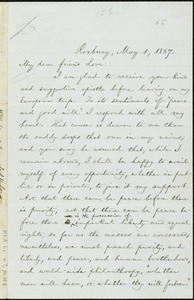 Letter from William Lloyd Garrison, Roxbury, [Mass.], to Alfred Harry Love, May 1, 1867