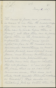 Extract from a letter from William Lloyd Garrison, [Roxbury, Mass.], to Alfred Harry Love, May 1, 1867
