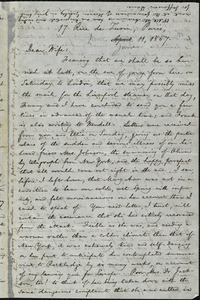 Letter from William Lloyd Garrison, 17 Rue de Turin, Paris, [France], to Helen Eliza Garrison, June 11, 1867