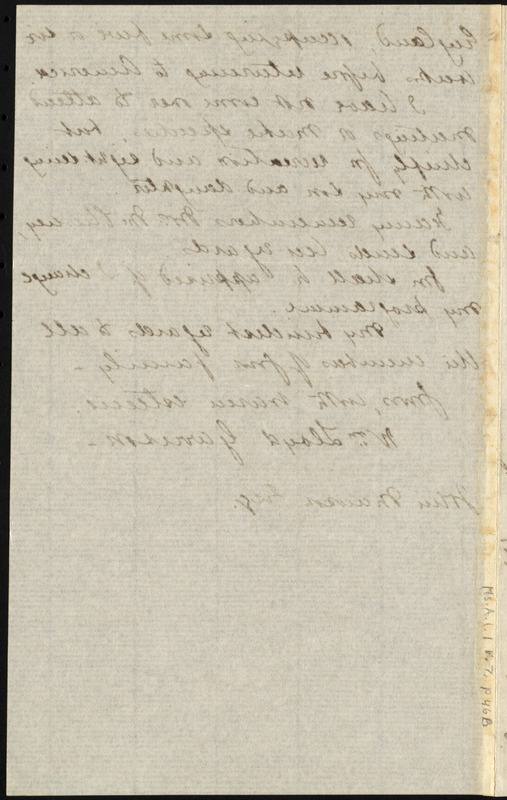 Copy of letter from William Lloyd Garrison, 22 Southampton St., Bloomsbury, W.C., London, [England], to John Mawson, June 27th, 1867
