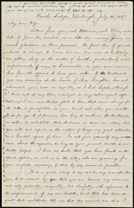 Letter from William Lloyd Garrison, Huntly Lodge, Edinburgh, [Scotland], to Helen Eliza Garrison, July 16, 1867