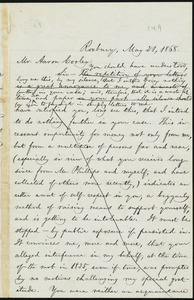 Letter from William Lloyd Garrison, Roxbury, [Mass.], to Aaron Cooley, May 21, 1868