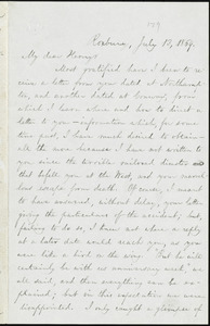Letter from William Lloyd Garrison, Roxbury, [Mass.], to Henry Clarke Wright, July 13, 1869