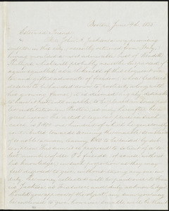Letter from William Lloyd Garrison, Boston, [Mass.], to Oliver Johnson, June 4th, 1855