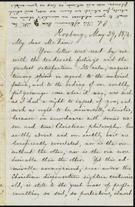 Letter from William Lloyd Garrison, Roxbury, [Mass.], to James Miller M'Kim, May 29, 1874