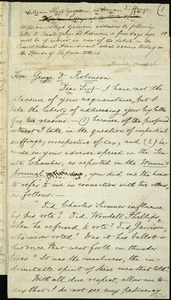 Draft of letter from William Lloyd Garrison, Roxbury, [Mass.], to George Dexter Robinson, March 14, 1876
