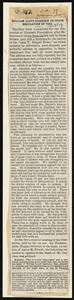 "Newspaper article titled ""William Lloyd Garrison on State Regulation of Vice,"" by William Lloyd Garrison, [New York?], [October 1879]"