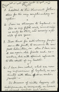 Outline of a speech by William Lloyd Garrison, [England], [16 July 1877]