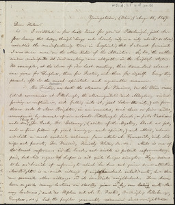 Letter from William Lloyd Garrison, Youngstown, (Ohio), to Helen Eliza Garrison, Aug. 16, 1847