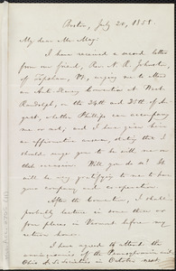 Letter from William Lloyd Garrison, Boston, [Mass.], to Samuel May, July 20, 1858