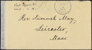 Letter from William Lloyd Garrison, Roxbury, [Mass.], to Samuel May, April 5, 1867