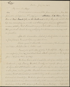 Copy of letter from William Lloyd Garrison, Boston, [Mass.], to Samuel May, July 20, 1858