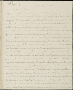 Copy of letter from William Lloyd Garrison, Boston, [Mass.], to Samuel May, Aug. 11, 1858