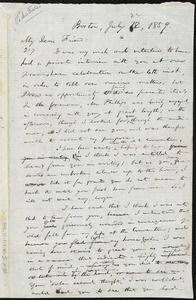 Draft of letter from William Lloyd Garrison, Boston, [Mass.], to Abby Kelley Foster, July 22, 1859