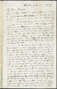 Draft of letter from William Lloyd Garrison, Boston, [Mass.], to Abby Kelley Foster, July 25, 1859
