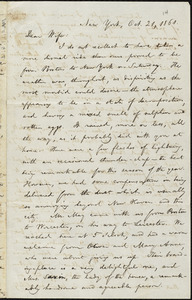 Letter from William Lloyd Garrison, New York, to Helen Eliza Garrison, Oct. 21, 1861