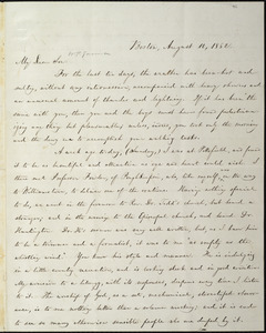 Letter from William Lloyd Garrison, Boston, [Mass.], to Wendell Phillips Garrison, August 10, 1862